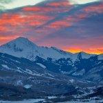 Snowmass Colorado Winter Sunset