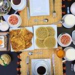 Delicious breakfast at Riad Dar Oulhoum