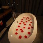 decorated romantic bath