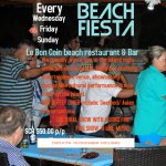 Every Friday Beach Fiesta ,Buffet Dinner including seafood & BBQ, cultural show,fire show,