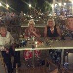 Enjoying an evening in the pool bar