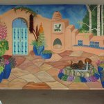 Mural is located inside the Roadrunner Cafe