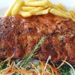 Spare ribs with herbs and rosemary at Bacchus Restaurant