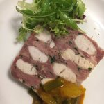 Marble Terrine of Ham Hough and Smoked Chicken with Piccalilli