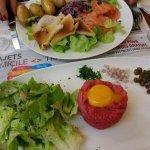 tartare frais et salade marine