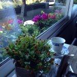 Café da manhã na varanda