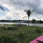 Looking towards the bay from the Tiki Bar