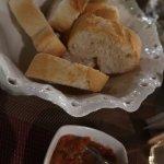bread n chilli/tomato sauce