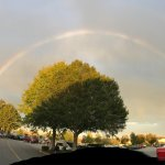 This was a beautiful rainbow we saw while we were shopping there last Sunday !