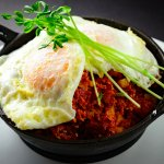 Eggs, corned beef and hash