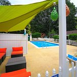 New patio furniture & canopies for our pool.