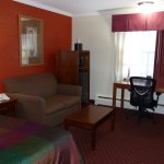 King room sofa, desk, microwave, refrigerator -- Best Western Bennington