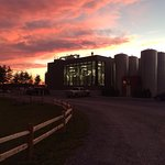 Sunset over Otter Creek Brewing