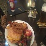 Mixed grill and bacon cheeseburger yum yum 😁
