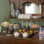 Complimentary beverages and snacks at The Chadwick Bed & Breakfast in Portland, Maine
