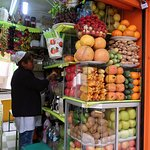 at the fruit stall stop