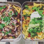 Our 'Porgy' & 'Classic' nachos side-by-side