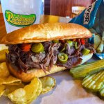 Our famous Italian Beef. Top it with Mozzarella and our special giardiniera peppers!