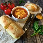 Classic grilled cheese and tomato soup!