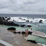 Outdoor pools protected from the ocean