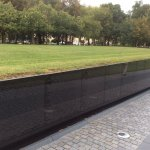 The Wall with the names of vets who did not made it back alive.
