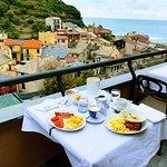 We enjoyed breakfast every morning at Hotel Villa Steno