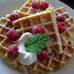 vanilla cornmeal waffles