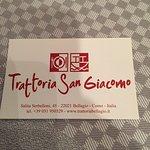 Photo de Trattoria San Giacomo