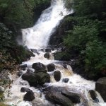 Torc Falls in full flow after rain