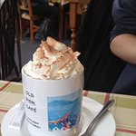 Hot Chocolate with marshmallows and cream.