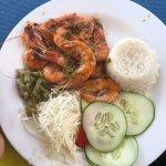 Grilled shrimp entree