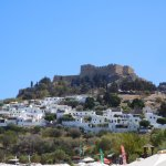 View of the acropolis from the big beach