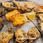 Chargrilled Oysters - Several varieties of Chargrilled Oysters