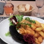 boudin frite ( table 102 jeudi 19 octobre