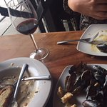 mussels w/white wine