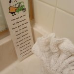 This was a clever use of old towels, just wish the rest of the towels would have been newer