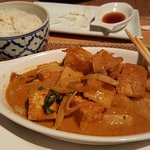 Pineapple curry with tofu! Delicious!