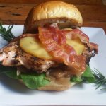 "Our ""Burger Of The Month"" is delicious! The Apple Harvest Burger is sure to make you smile."