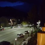3rd floor balcony view of Banff Avenue