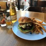 """Our """"Industry Standard"""" pairs well with our Burger - Local Beef, Camembert, Beer-battered Fries."""