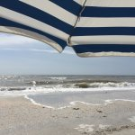 View of the ocean from under our Sanibel Moorings umbrella.
