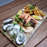 Seafood platters - Alfred Place laneway