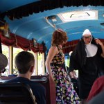 Giving warning about any nunsense on the bus