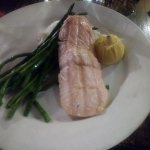 Salmon and asparagus at Stage House