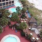 View from our room of the pool area