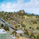The huge model railway is extremely detailed!