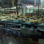 Detailed model of WW2 era ship