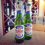 Come and enjoy a cold bottle of Italian Peroni Nastro Azzurro