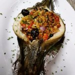 """baked seabass """"di Sardegna"""" is a must try @Ilbacaropenang"""