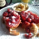 French toast with cherries!